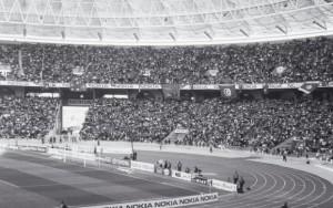 PEŁNE TRYBUNY STADIONU RADES PODCZAS FINAŁU PUCHARU NARODÓW 2004 TUNEZJA - MAROKO. FOT. M.ZICHLARZ
